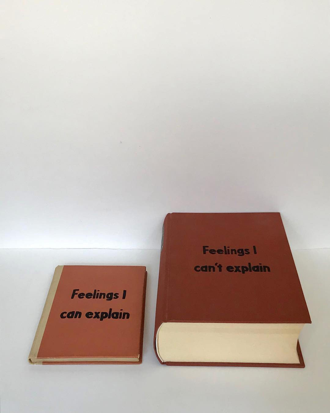 New Fictional Self-Help Titles Present Existential Messages on Faded Book Covers