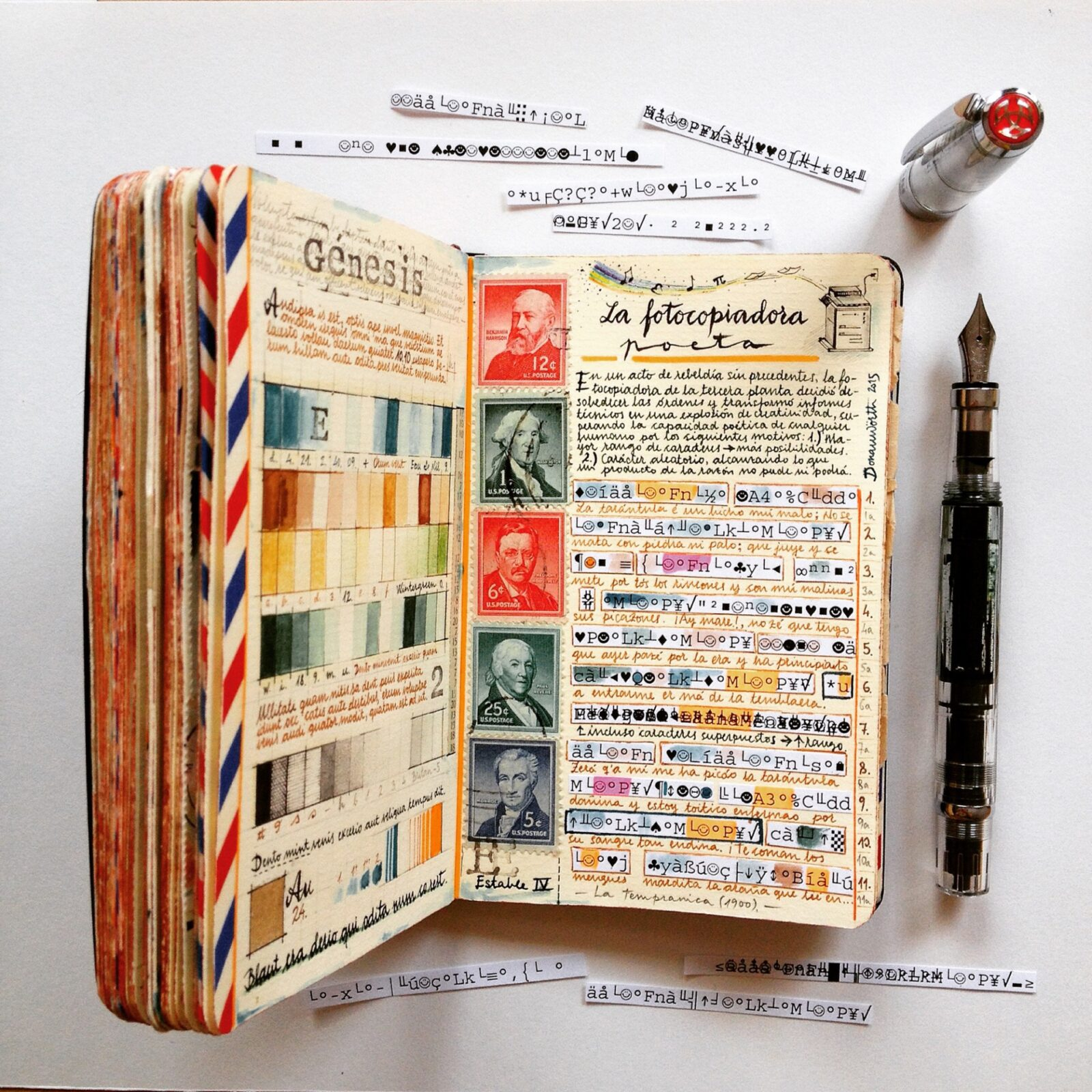 Handmade Sketchbooks Teeming with Colorful Calligraphy, Diagrams, Sketches, and Travel Ephemera by José Naranja