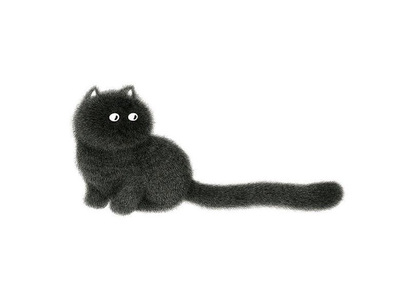 Minimal Illustrations of Cats by Kamwei Fong