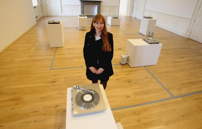 Berlin-based Scot's artist sounds off in exhibition