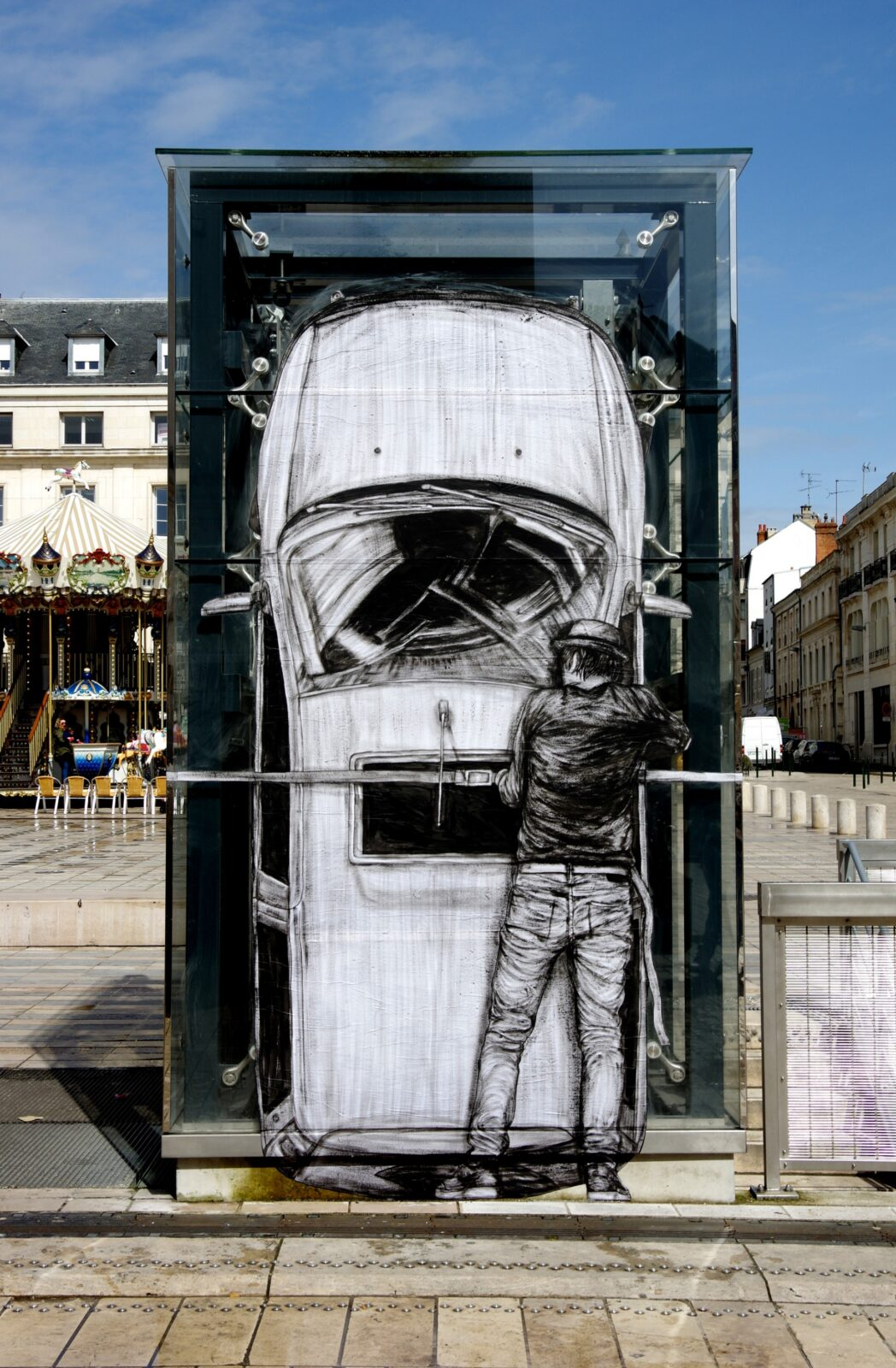 New Humorous Urban Interventions by Levalet Combine Wheatpaste Artworks with Public Architecture