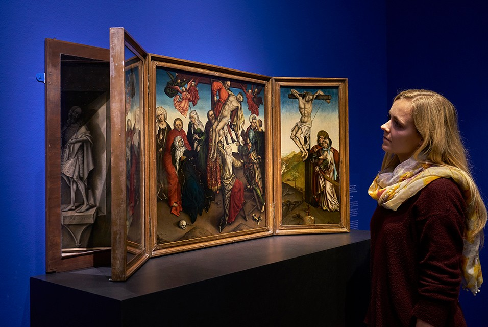 Liebieghaus exhibits the restored 'Crucified Thief' by the Master of Flémalle
