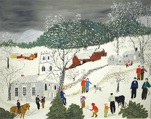 Exhibition of Incredible Grandma's Moses Paintings