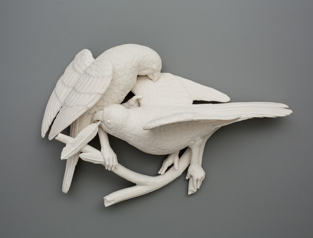 Alarming Juxtapositions of Human and Natural Elements in Sculptures by Kate MacDowell