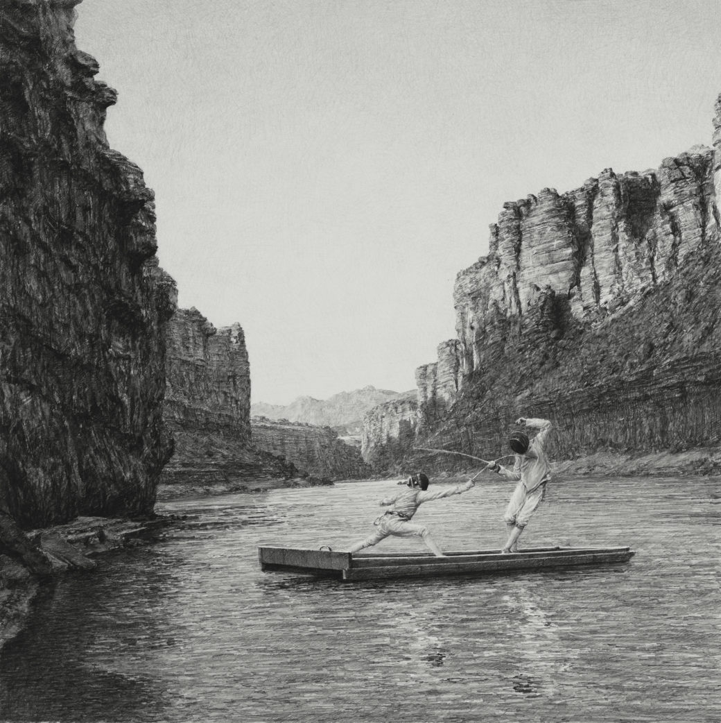 New Large-Scale Graphite Drawings of Idealized American Figures by Ethan Murrow