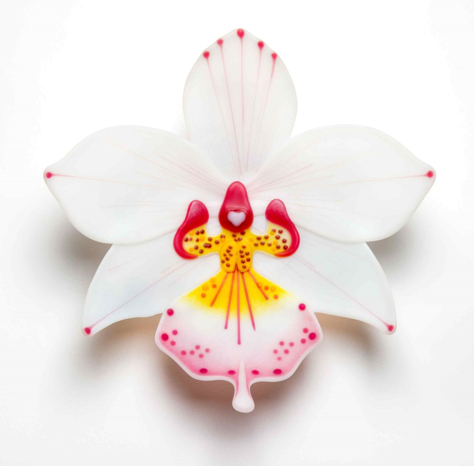 Luscious Handmade Glass Orchids by Laura Hart Reflect Plants' Exotic Beauty