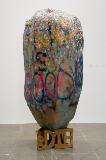 Dan Colen's exhibition at Gagosian, New York