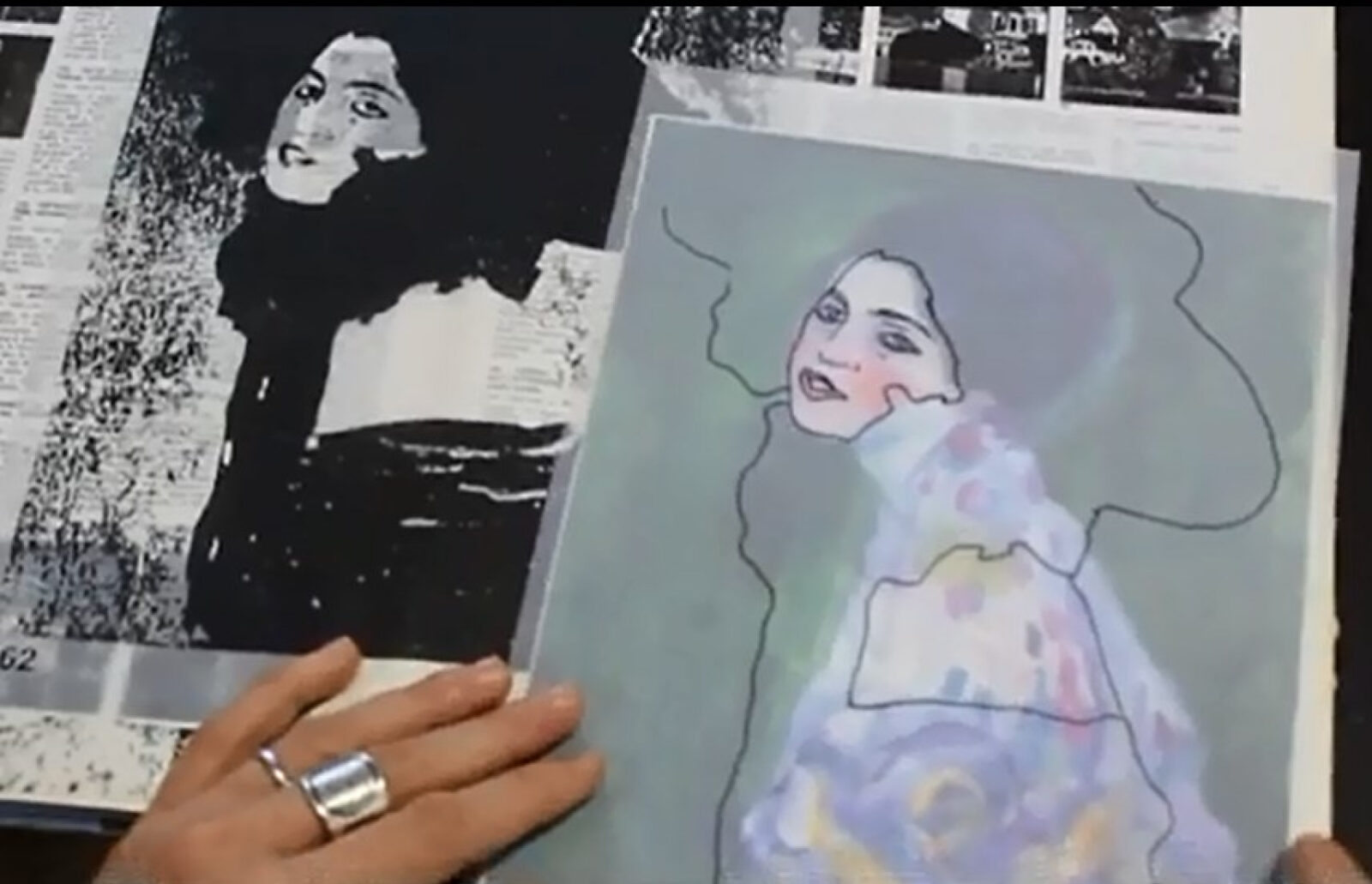 Klimt's painting was found in a hiding place inside the wall of an Italian gallery