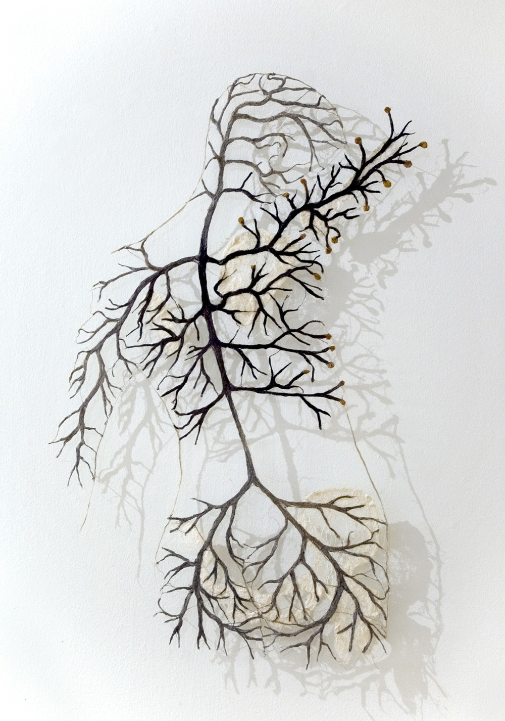 Textile Bodies Reveal Branched Systems of Veins, Flowers and Roots by Raija Jokinen
