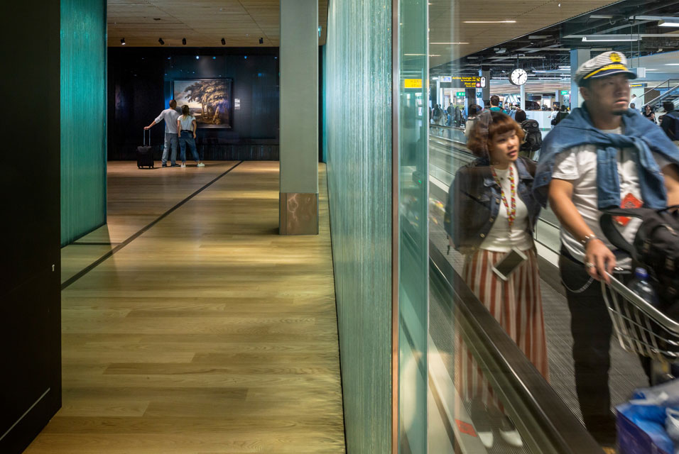 Amsterdam Airport Schiphol Turned Into an Exhibition Hall for the Dutch Masterpieces