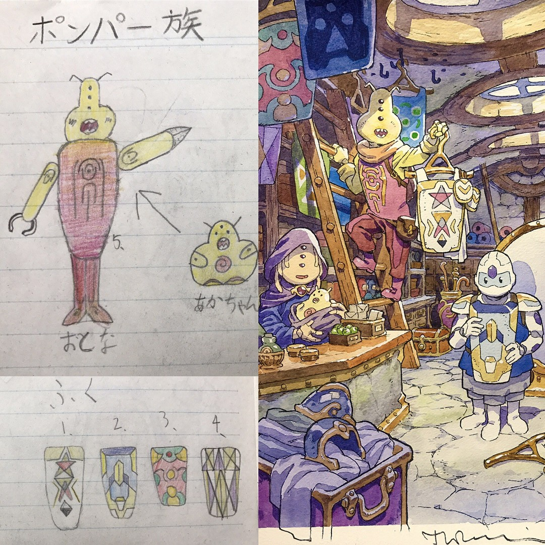 Dad Turns His Sons' Doodles Into Anime Characters, And The Result Is Amazing