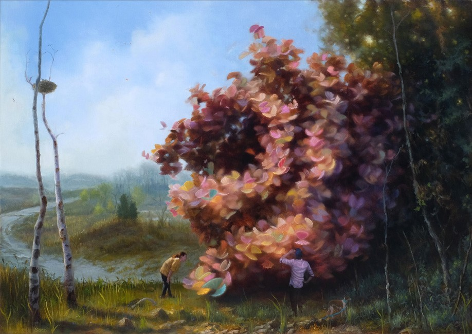 Paul Saari's Mysterious Dreamworlds Set in Melancholy Landscapes