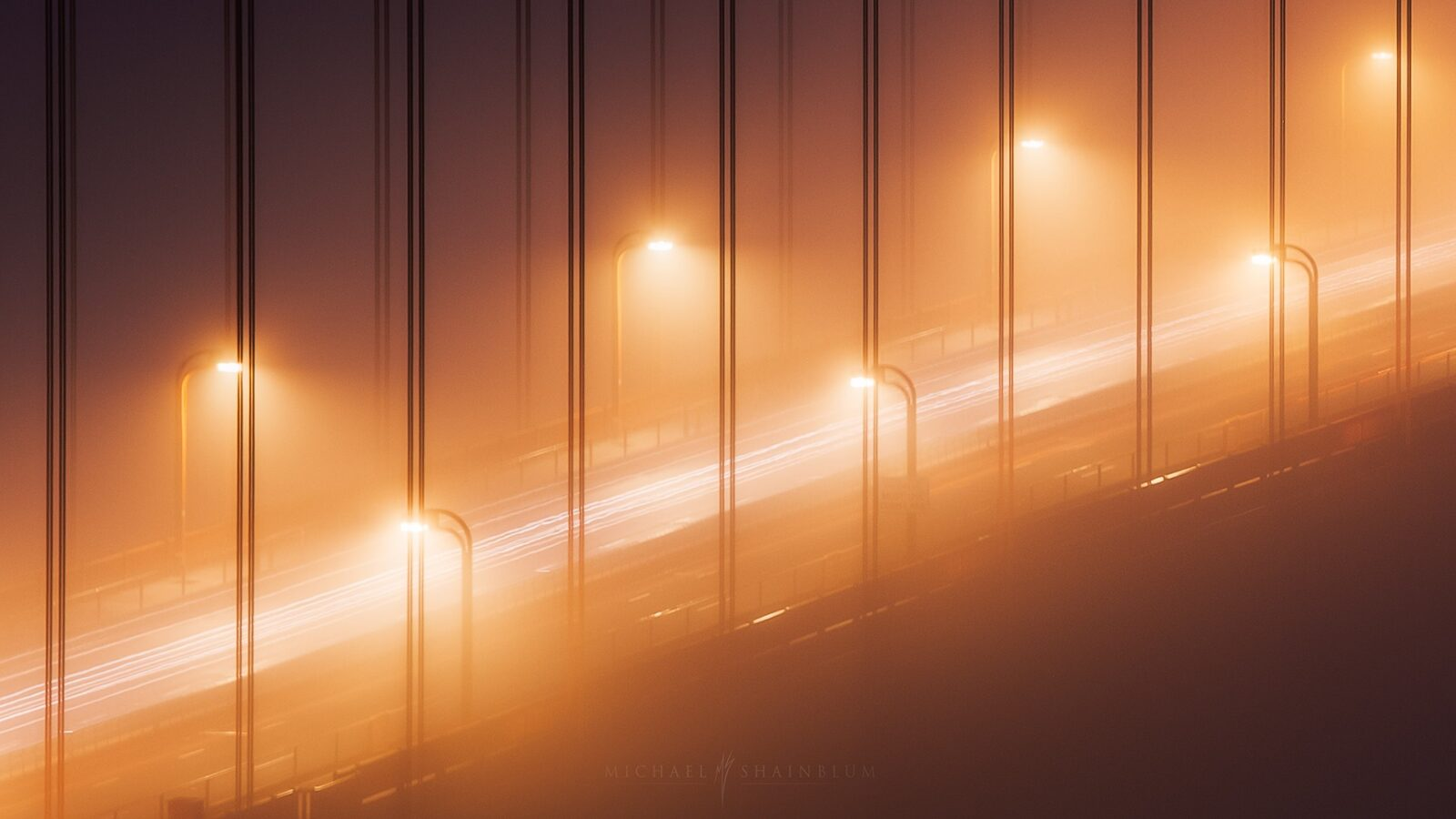 San Francisco Shrouded in Dense Fog Captured by Michael Shainblum