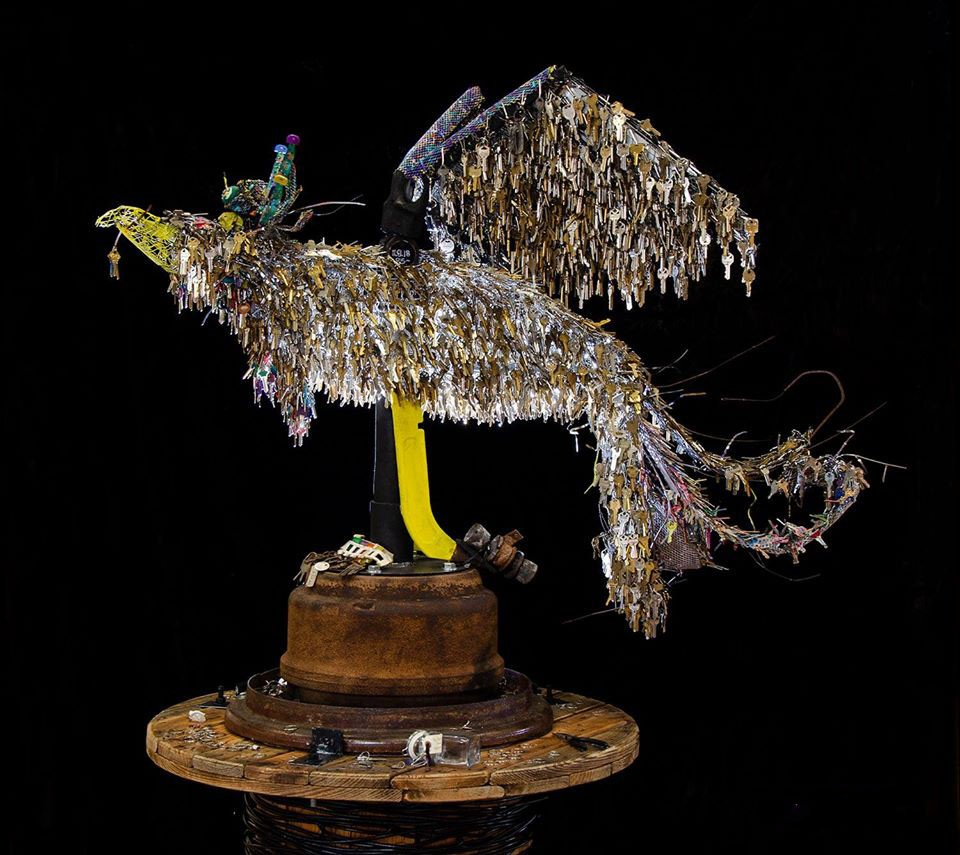 Art Therapist Collects 14,000 Keys From Wildfire Victims and Transforms Them into Powerful Metal Phoenix Sculpture