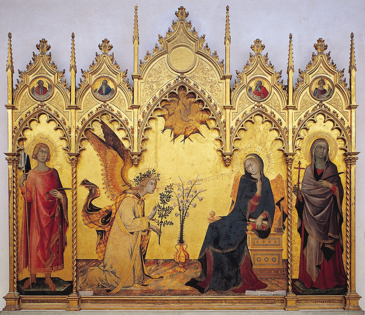 'The Annunciation with St. Margaret and St. Ansanus' Simone Martini and Lippo Memmi