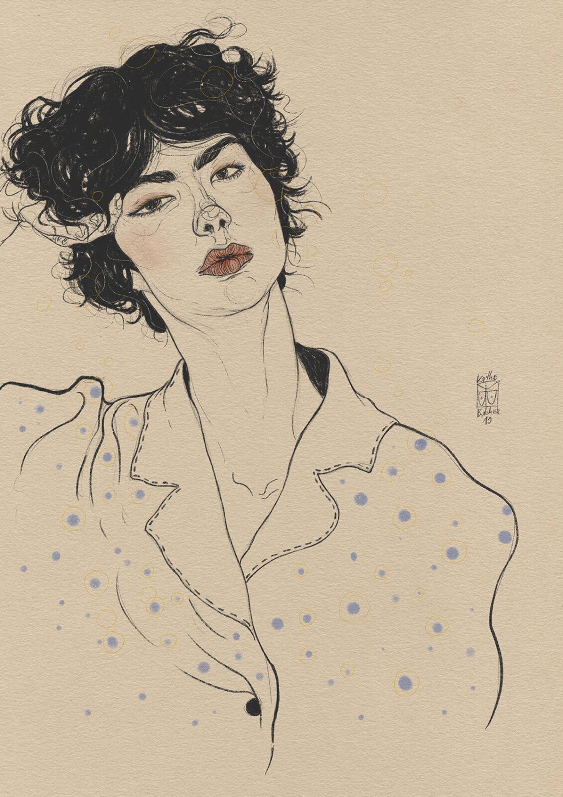 The sensuality and femininity illustrations by Käthe Butcher
