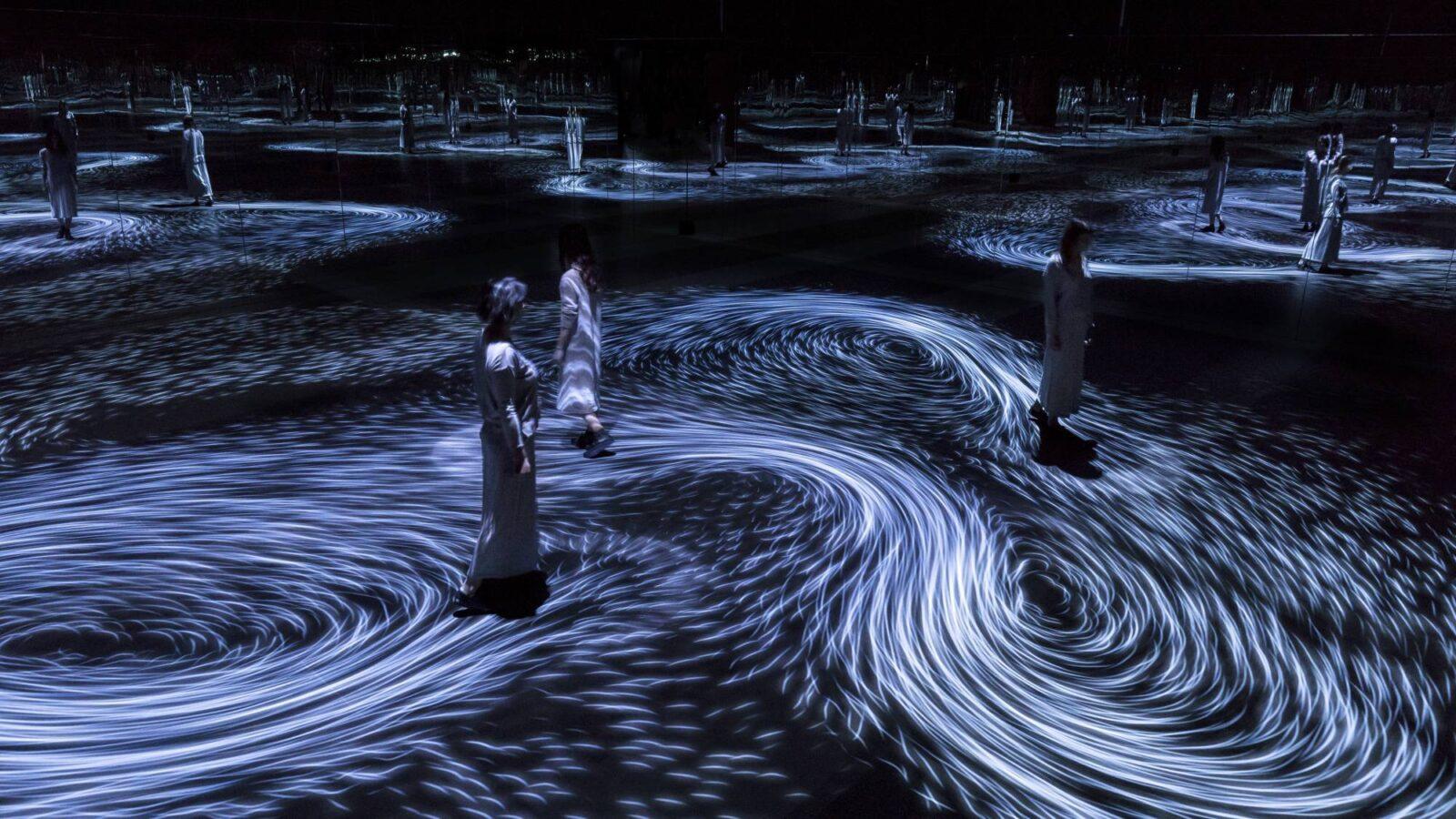 Ocean Wall Murals Step Inside A Swirling Mirror Room Of Interactive Ocean