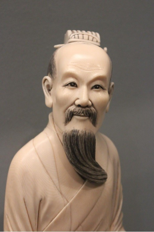 The writer Qu Yuan in ivory