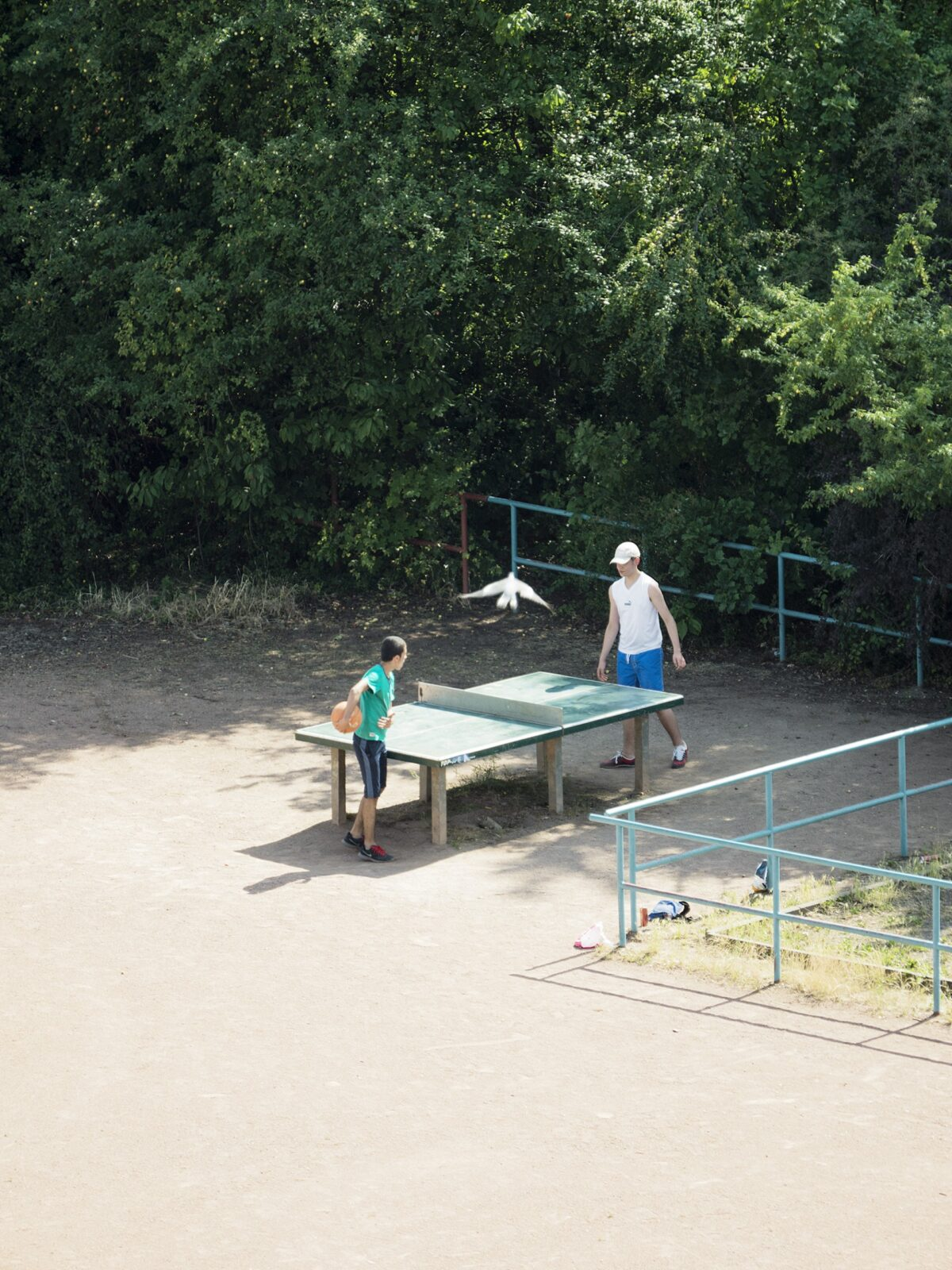 The Diverse Daily Life of a Ping Pong Table in Germany Photographed by Tomiyasu Hayahisa