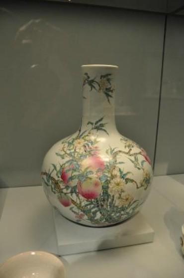 Vase with Peaches, China, 18th century