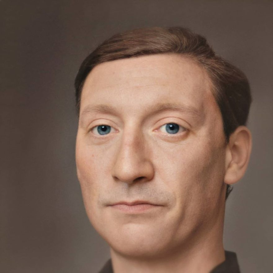 Photorealistic portraits of historical personalities are recreated by a Dutch designer