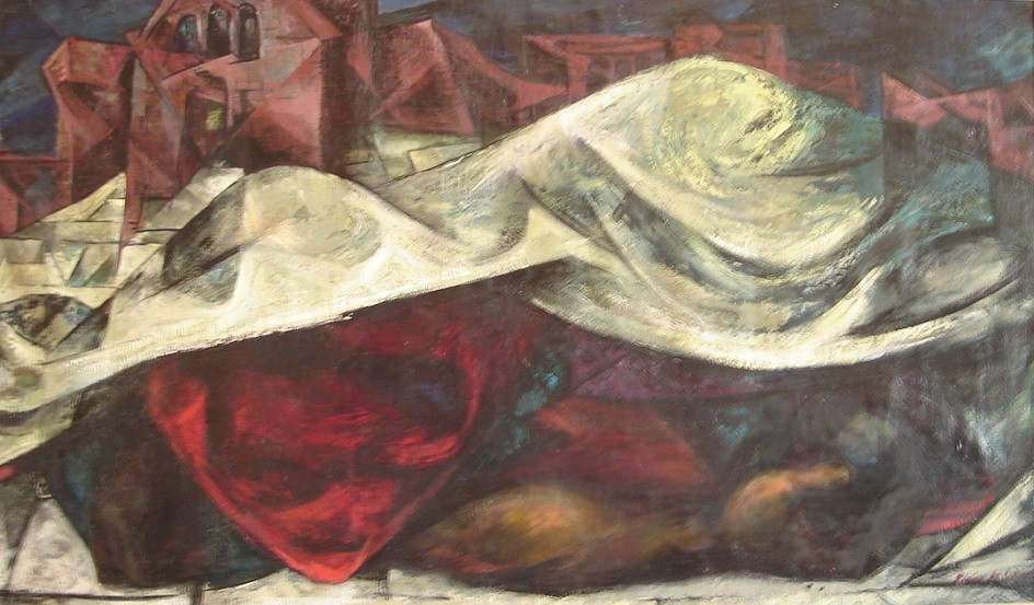 """Abstract Expressionism. Helen Hamilton. Painting """"48 x 28"""", 1950."""