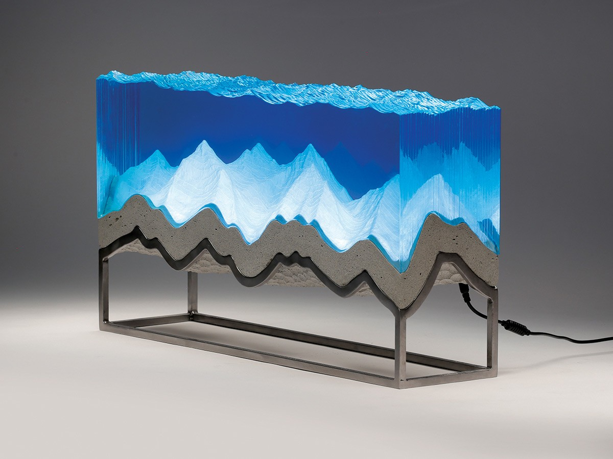 New Sculptures by Ben Young Transform Hand-Cut Glass into Aquatic Landscapes